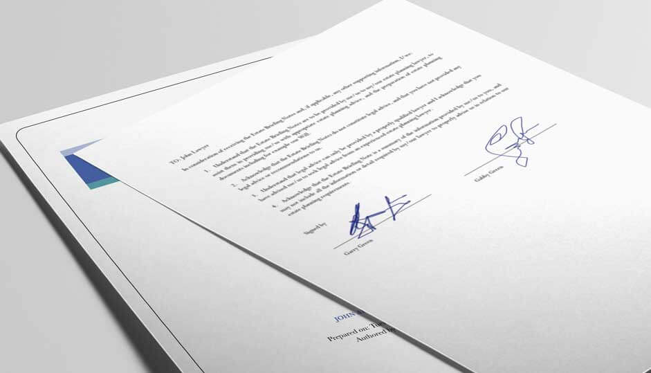 CLIENT ENGAGEMENT Create and print LOE + ATP for client to sign